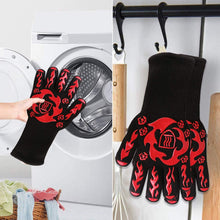 Load image into Gallery viewer, (T473)Prosperbiz BBQ Gloves, 1472℉ Extreme Heat Resistant Oven Grilling Gloves, Silicone Non-Slip Kitchen Oven Mitts, Hot Cooking Oven Gloves