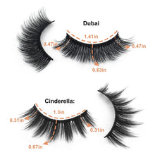 Load image into Gallery viewer, (K950) False Eyelashes 5D Volume Faux Mink Lashes Pack Mixed Cinderella+Dubai 14 Pairs False Mink Lashes Natural