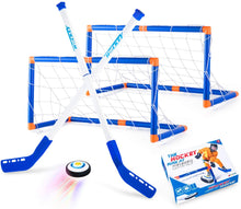 Load image into Gallery viewer, (H450)Boys Toys Hover Hockey Set, Hockey Ball Set for Indoor Games, Air Power Training Ball Playing Hockey Game,Hockey Toys for 3 4 5 6 7 8 9 10 11 12 Year Old Boys Girls