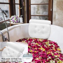 Load image into Gallery viewer, (Y193)Bath Pillow Bathtub Pillow - Bath Pillows for Tub with Neck, Head, Shoulder and Back Support - 4D Air Mesh Spa Pillow for Bath - Extra Thick, Soft and Quick Dry
