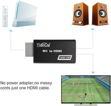 Load image into Gallery viewer, (E773) Tiancai Wii to HDMI Converter 1080P, with 3.5mm Audio Jack, HDMI Cable Included, Compatible with Nintendo Wii,