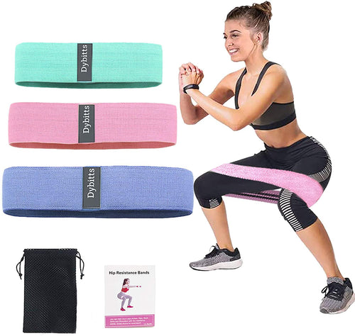(G159)VMOPA Exercise Booty Bands and Resistance Bands,Upgrade Thicken Anti-Slip & Roll Fitness Bands Resistance Loops Hip Thigh Glute Bands