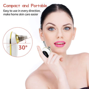 (X035)Blackhead Remover Pore Vacuum, OriHea Electric Facial Pore Cleaner with Strong Suction & 5 Multifunctional Probes