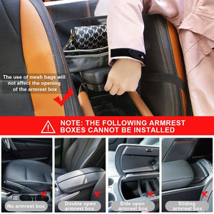 (T289)Car Net Pocket Handbag Holder for Purse Storage & Pocket, Seat Back Net Bag Driver Storage Netting Pouch, Cargo Tissue Holder,Barrier