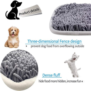 (H209)Snuffle Mat for Dogs 17'' x 21'' Dog Snuffle Mat with Powerful Anti-Slip Suckers Interactive Dog Food Training Mat