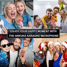 Load image into Gallery viewer, (V516)Ankuka Karaoke Wireless Microphone for Kids, Portable 4 in 1 Bluetooth Karaoke Machine Speaker Toys, Gifts for Christmas Birthday