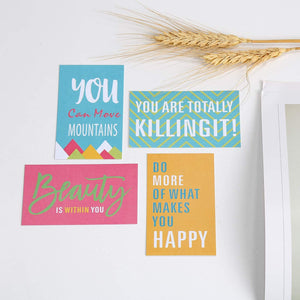 (Y100) ONEDONE Motivational Encouragement Cards Boxed Greeting Cards Assortment Box Inspirational Quote Card with Box Positive Note Cards