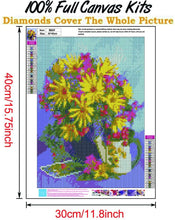 Load image into Gallery viewer, (Y776)Abodhu Diamond Painting Kits for Adults Chrysanthemum Diamond Art Kits for Adults 5D Diamond Dotz Kit Paint
