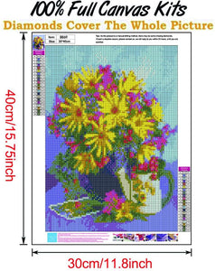 (Y776)Abodhu Diamond Painting Kits for Adults Chrysanthemum Diamond Art Kits for Adults 5D Diamond Dotz Kit Paint