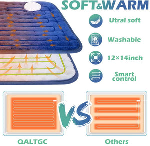 "(C748)QALTGC Heating Pad for Back Pain and Cramp Relief 12"" x 24"" Size Electric Heat Pad with 10 Temperature Settings 9Timer Settings Auto Shut"