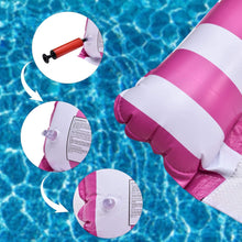 Load image into Gallery viewer, (R138)Inflatable Pool Floats for Adults - 2 Packs Portable Pool Floats with a Manual Air Pump, as Water Hammock, Pool Chairs to Beach, Swimming Pool
