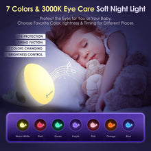 Load image into Gallery viewer, (R284)Vigorun 3 in 1 Sleep Sound Machine - White Noise Machine & Bluetooth Speaker & 7-Color Soft Night Light, Timer & Memory, 20 Soothing Sound, Noise Machine