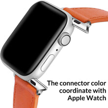 Load image into Gallery viewer, (R203)ONMROAD Leather Bands Compatible with Apple Watch 44mm 42mm, Flexible Glossy Leather Texture Strap for iWatch Series 6 & Series SE & Series 5