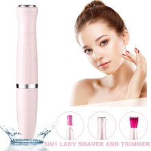 Load image into Gallery viewer, (B875)Women's Bikini Trimmer 3in1 Painless Multi Grooming Kit Cordless Wet and Dry Shaver Electric Razor Women's Facial Hair Removal Bikini Trimmer
