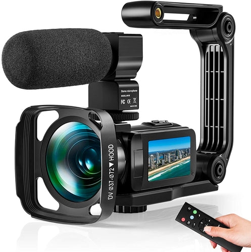 (S190)Video Camera Ultra 2.7K Camcorder HD 36MP Digital Vlogging Recorder with IR Night Vision and 16X Digital Zoom Equipped