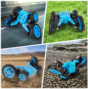 (H710)BeebeeRun Remote Control Car for Kids- 4WD RC Cars Remote Control Stunt Toy Doubile Sided Rotating Tumbling 360° Flips, 2.4GHz Fancy Wheel Tricks