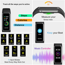 Load image into Gallery viewer, (K334)EEFINITE Fitness Tracker with Alexa Built-in, 5ATM Waterproof Activity Tacker with Blood Oxygen Heart Rate Monitor, Sleep & Swim Tracking...