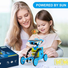 Load image into Gallery viewer, (Q526)IVETTO Solar Robot Kit 12 - in - 1 Robot Creation Toy Solar w/ Battery Operated DIY Assembly Educational Learning Science Building Toys
