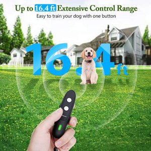 (Y732)FOCUSPET Ultrasonic Anti Barking Device, 2 in 1 Dog Barking Deterrent Devices 3 Adjustable Mode Dog Bark Control, USB Rechargeable 16.4 Ft Range with LED