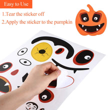 Load image into Gallery viewer, (F047)Taocco 96 PCS Halloween Pumpkin Decorating Stickers,Jack-o-Lantern Decoration Craft Kit,16 Funny and Classic Pumpkin Expressions Stickers,Halloween Trick or Treat Party Favors