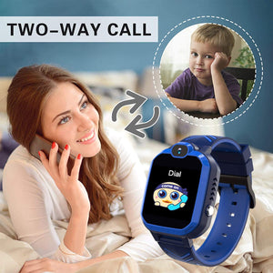 (D375)Smart Watch for Kids Waterproof Smart Watches Phone with SOS Call Camera Games Recorder Alarm Music Player
