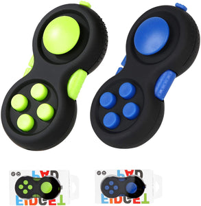 (Y789) Vanblue 2Pcs Fidget Pad Toy for Kids Adults ADHD Anxiety Toys Fidget Controller Pad Fidget Blocks Fidget Game Pad Fidget Focus Toy for ADD OCD Autism Stress Relief