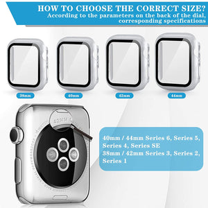 (K960) HOATWOU 3Pack Screen Protector Case for Apple Watch,HD Ultra-Thin Fit Shockproof Case for iwatch Series 1/2/3,with Watch Charging Stand