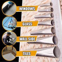 Load image into Gallery viewer, (T809)21 Pcs Perfect Caulking Finisher Kit - Caulk Nozzle Applicator - Stainless Steel Sealant Caulking Finishing Tool Kit for Kitchen Bathroom Window, Sink Joint