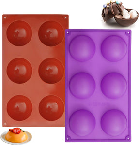 "(K400)2.64"" Silicone Hot Chocolate Bomb Mold Large Size Baking Molds for Making Cake, Jelly, Dome Mousse, Pudding, Candy, Handmade Soap Mould"