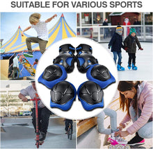 Load image into Gallery viewer, (R146)Letigo Knee Pads for Kids Elbow Pads and Knee Pads for Girls Boys Kids Protective Gear with Wrist Guard 6 in 1 for Skating Cycling Bike Rollerblading Scooter