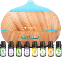 Load image into Gallery viewer, (G108)Essential Oil Diffuser,500ML Ultrasonic Diffuser with 8 Aromatherapy Essential Oils. Aromatherapy Diffuser 7 Color LED Lights,Waterless Auto Power Off,Cool Humidifier Mist