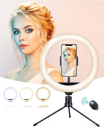 (V010)Ring Light with Stand, 10