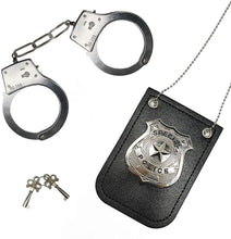 Load image into Gallery viewer, (Q981)HOMILY Hand Cuffs and Badge for Kids Pretend Toy Role Play