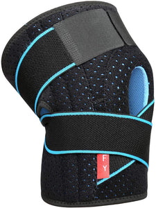 (H630)Knee Brace Support for Men and Women Compression Brace Sleeve for Arthritis Pain Meniscus Tear Patellar Tendon Support, ACL, MCL,Sports,Adjustable Size