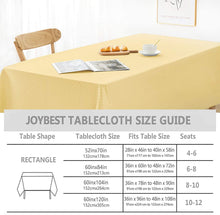 Load image into Gallery viewer, (G319)Jacquard Rectangle Table Cloth Oil-Proof Spill-Proof Wrinkle Resistant Tablecloth, Washable Polyester Fabric Heavy...