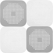 Load image into Gallery viewer, (A995)Ado Glo Hair Catchers, 4 Pack Shower Drain Covers, Easy to Install and Clean, Durable Silicone Sink Drain Strainers for Bathroom Bathtub and Kitchen