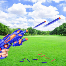 Load image into Gallery viewer, (Y592)RegeMoudal 2 Pack Blaster Toy Guns Foam Bullet Toy Gun with 2 Foam Dart Wrist Band and 60 Pack Refill Soft Foam Darts Hand Gun Toys for Kids