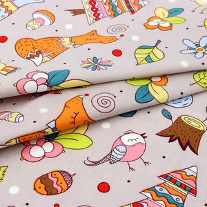 (D417) 10Pcs Quilting Fabric for Sewing Crafting Fat Quarters Fabric Bundles for Patchwork DIY Sewing Cotton Fabric Printed Floral Pre