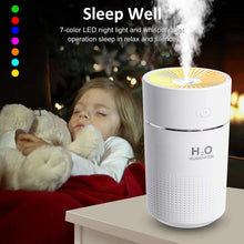 Load image into Gallery viewer, (T691)Portable Mini Humidifier,360ml Small Cool Mist Humidifier with 7-Color LED Night Light