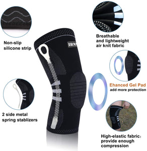(E911)IBNS Compression Knee Brace Sleeve - Knee Support for Men & Women Arthritis Pain