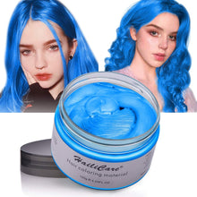 Load image into Gallery viewer, (Q262)Hair Color Wax, Unisex Disposable Blue Hair Dye, Hairstyle Coloring Cream for Party, Cosplay, Halloween, Masquerade, Club