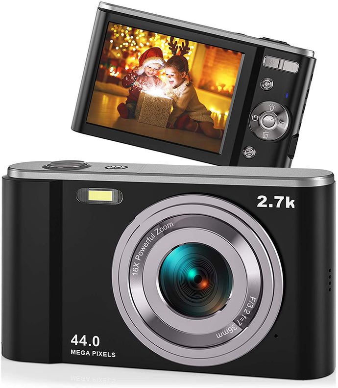 (C710) 44MP Small Digital Camera for Photography Beginners, 2.7K Vlogging Camera 2.88