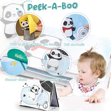 Load image into Gallery viewer, (K571)beiens Soft Baby Books, Panda High Contrast Black White Books, Touch and Feel Non-Toxic Crinkle Cloth Books