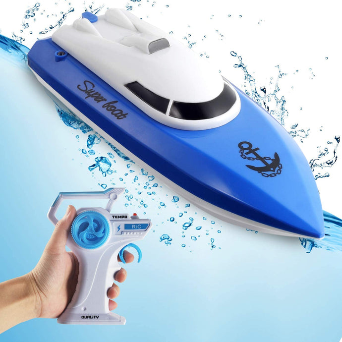 (A943)Remote Control Boat for Pools and Lakes,Comdigio 20+ mph High Speed RC Boat with 2 Rechargeable Battery, 2.4 GHz Outdoor Adventure Electric Racing Boats
