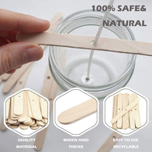 Load image into Gallery viewer, (W653)150Pcs Wooden Candle Wick Holders 4.4 Inch Candle Wick Bars, Wick Holders for Candle Making, Candle Centering Tool for DIY Crafts
