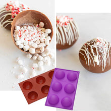 "Load image into Gallery viewer, (K400)2.64"" Silicone Hot Chocolate Bomb Mold Large Size Baking Molds for Making Cake, Jelly, Dome Mousse, Pudding, Candy, Handmade Soap Mould"