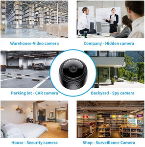 (D865)Actitop Mini Camera, Wireless WiFi 1080P HD Home Security Surveillance Cameras with Night Vision Motion Detection 32G SD Card
