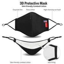 Load image into Gallery viewer, (V221)XDX Cloth Face Mask Washable & Reusable with Adjustable Ear Loops - Breathable Masks with Filter for Unisex Adults (L/XL)