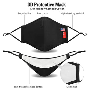 (V221)XDX Cloth Face Mask Washable & Reusable with Adjustable Ear Loops - Breathable Masks with Filter for Unisex Adults (L/XL)