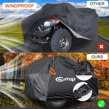 Load image into Gallery viewer, (T281)Waterproof ATV Cover - ATV Quad Windproof Covers ATC Rain Cover UV Protects 4 Wheeler for Polaris Sportsman Outlaw Yamaha Grizzly Wolverine YFZ Honda
